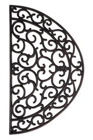 Lábtörlő, gumi, félkör, 66 x 38 cm RB04